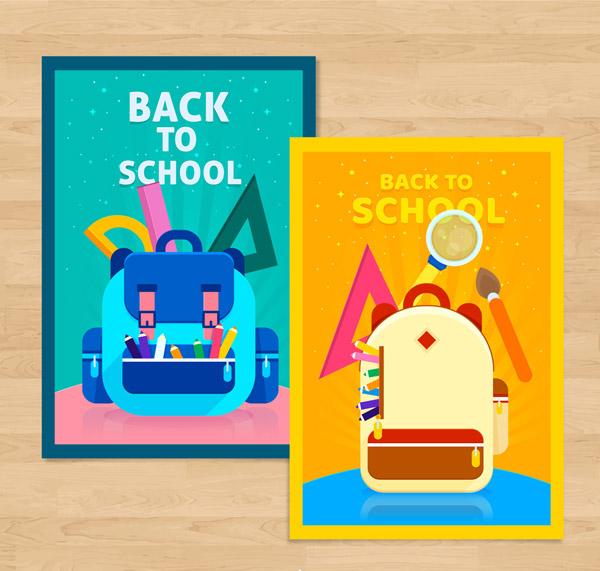 返校书包卡片