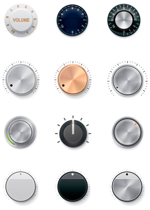 Textured knob collection
