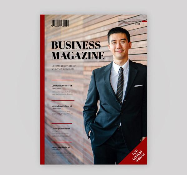 商务男子杂志封面