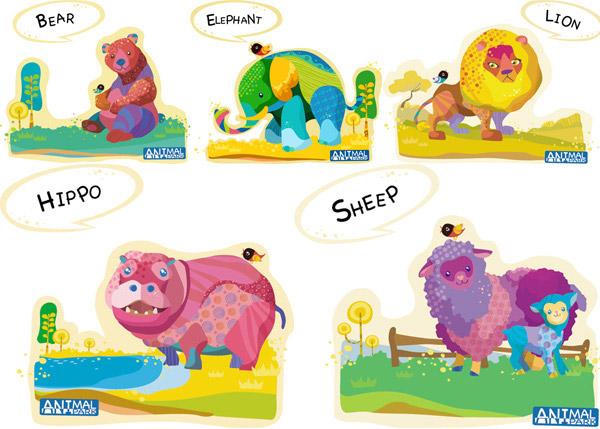 素材分类: 其它所需点数: 0 点 关键词: 韩国可爱动物乐园插画矢量图