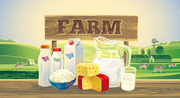 复古农场农产品