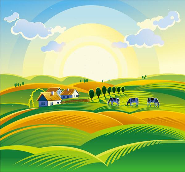 美丽农场风景