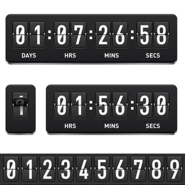 Sense flip clock