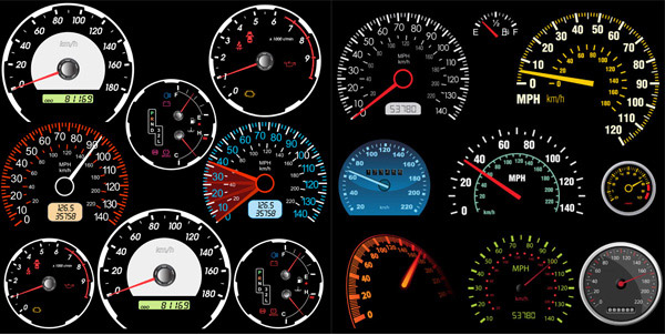 Beautiful dashboard vector