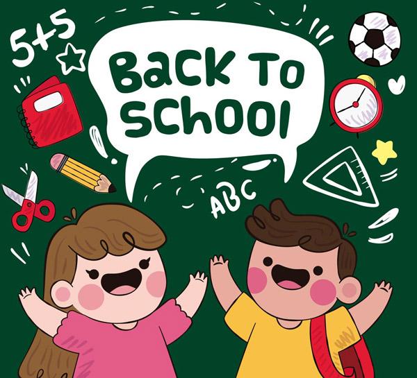 卡通返校儿童