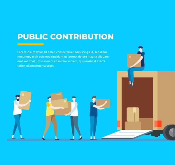 公益捐助搬运物资
