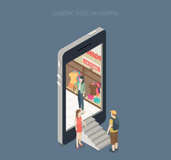 矢量商务金融所需点数: 0   点 关键词: 立体手机里的商场矢量素材