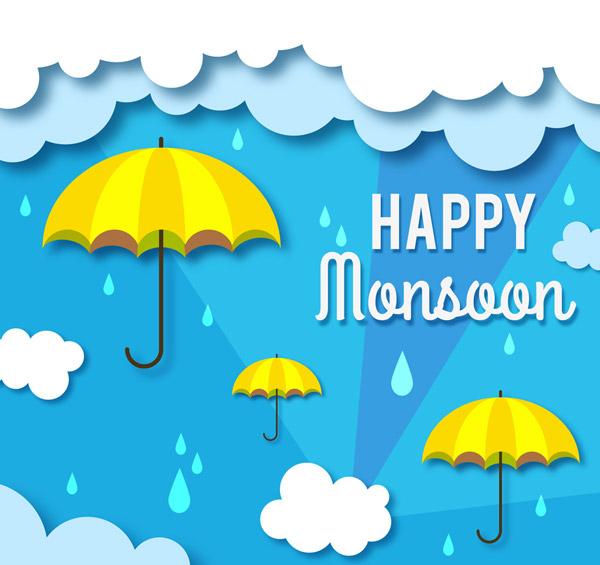 快乐雨季雨伞