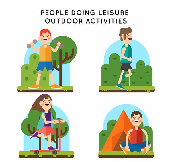 户外休闲运动人物