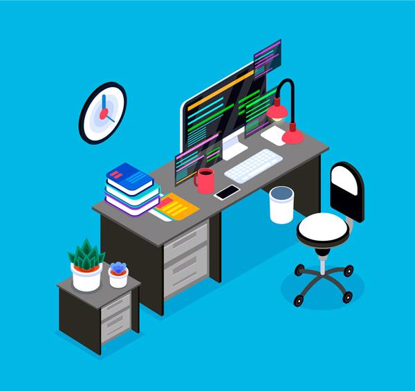 立体私人办公桌