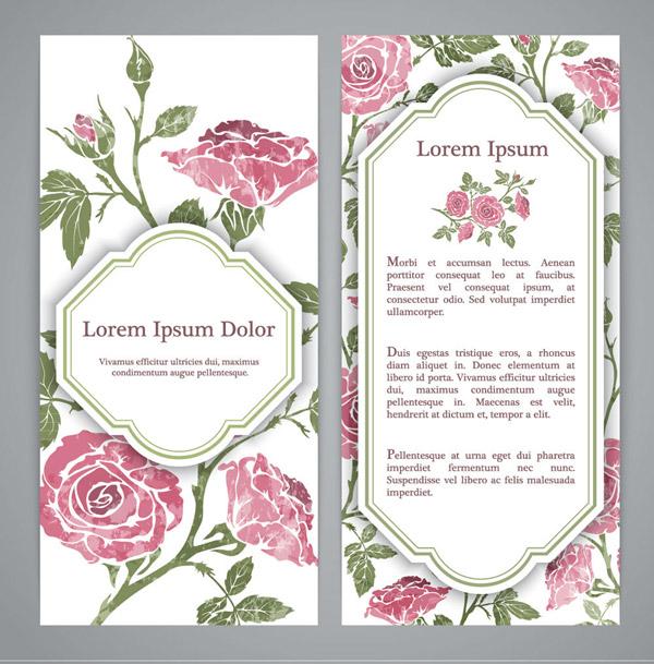 粉色玫瑰花卡片