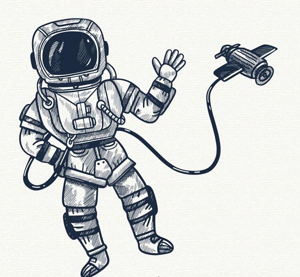 宇航员和宇宙飞船
