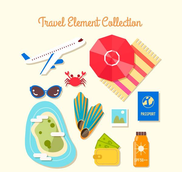 夏季旅行元素