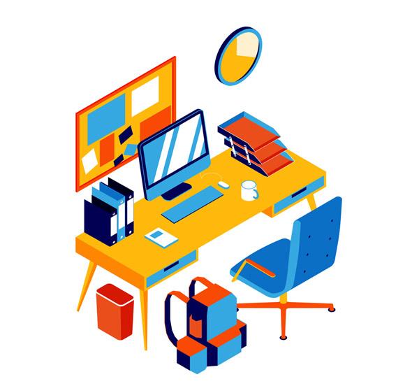 立体办公桌设计