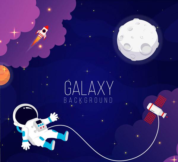 宇航员和月球