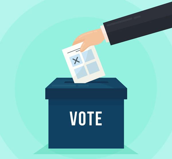 投票箱和手臂