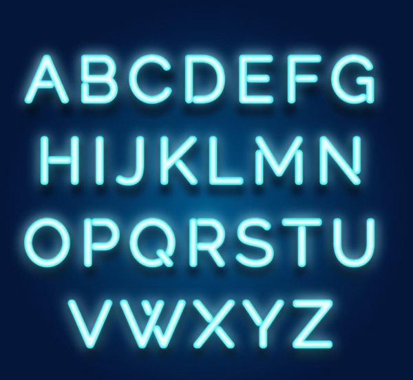 霓虹灯大写字母
