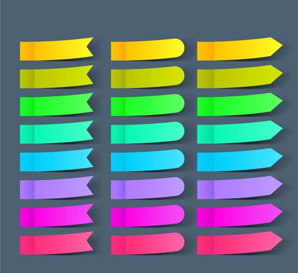 彩色便利贴矢量