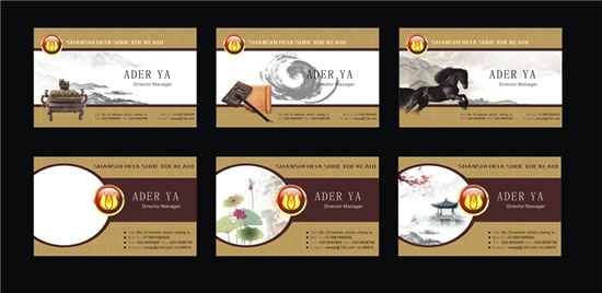古典中国风名片_矢量名片卡片 - 素材中国_素材cnn