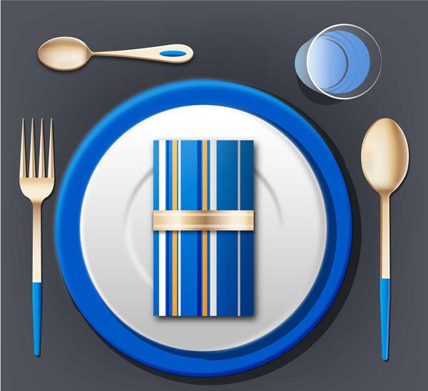 精美蓝色餐具