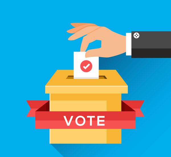 投票的手臂矢量