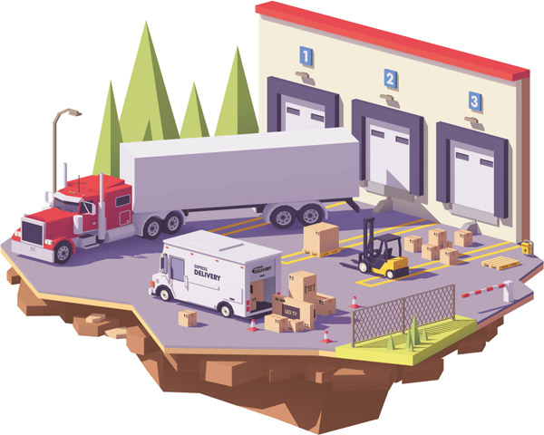 装卸货物景