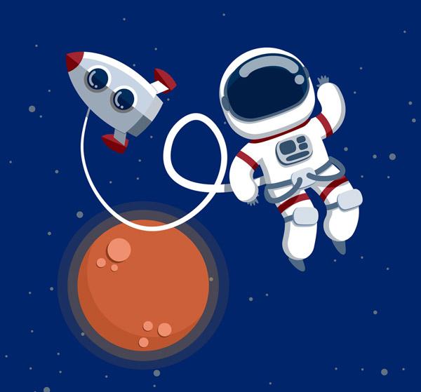 宇宙飞船和宇航员