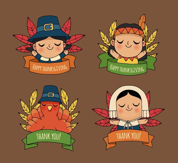 感恩节角色标签