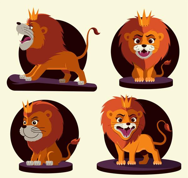 卡通狮子设计