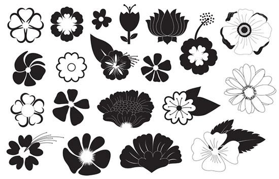 0 点 关键词: 黑白花朵纹样矢量图,黑白纹样,线描花朵,花纹样式图片