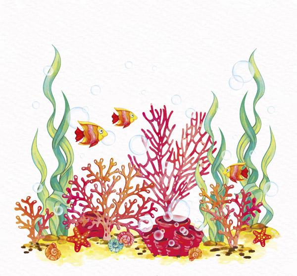 海底世界珊瑚鱼群