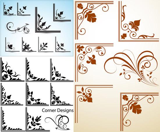 0 点 关键词: 植物纹样边角矢量图,植物纹样,装饰花纹,线条,边角样式