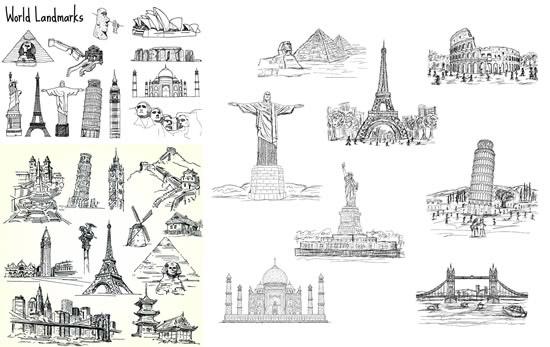 长城手绘图画简单