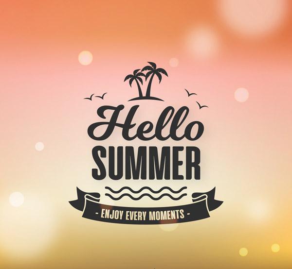 你好夏季标志