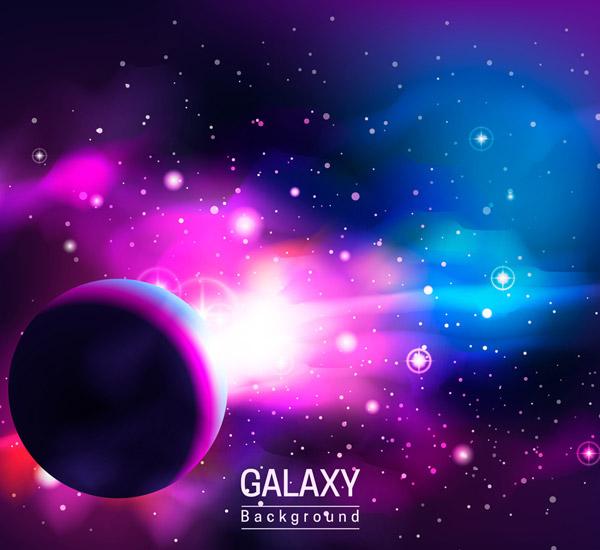 神秘彩色宇宙风景