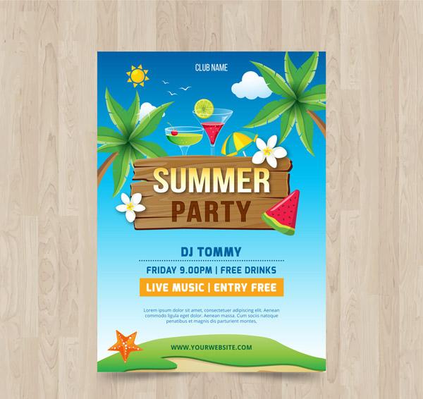 夏季派对宣传单