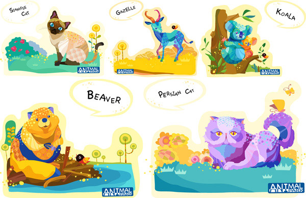 Cartoon painting animals