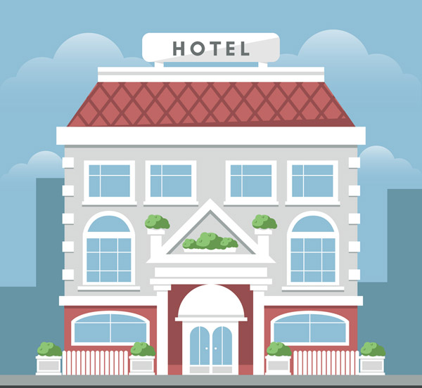 灰色酒店建筑
