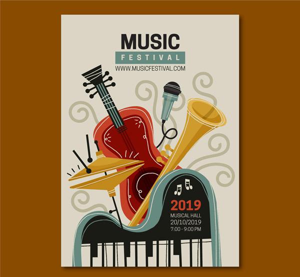 乐器音乐节传单