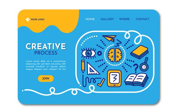 创意网站登陆页