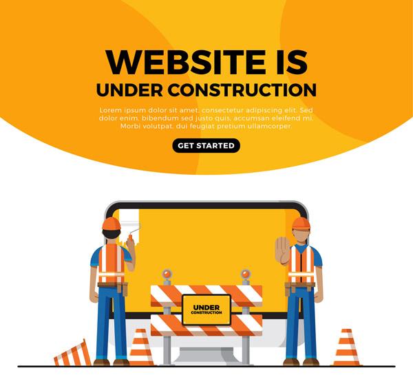 施工中网页界面