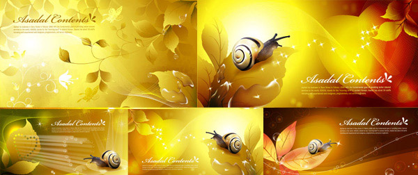 Golden snail vectors