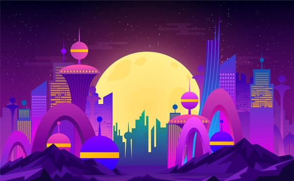 未来城市风景