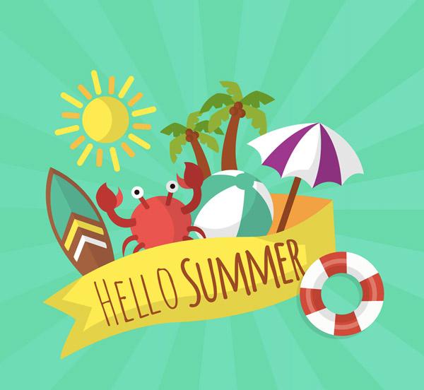 夏季度假物品条幅