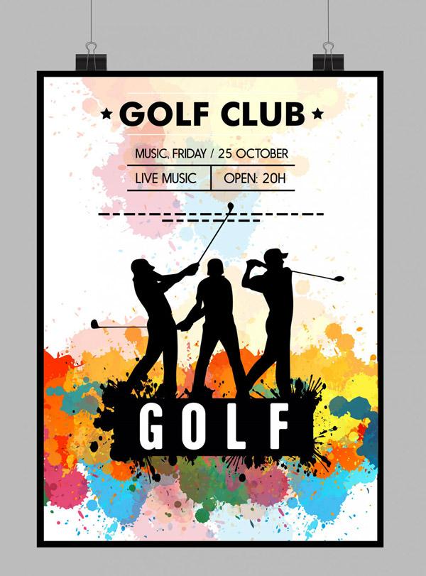 高尔夫俱乐部海报