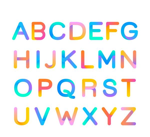 彩色英文字母