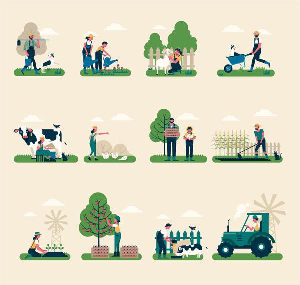 农夫工作场景