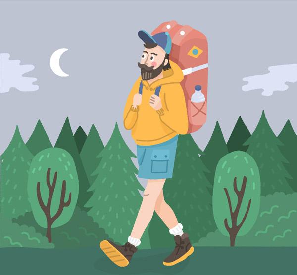 背包旅行男子