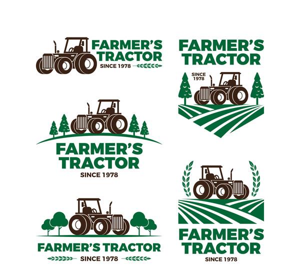 农场拖拉机标志