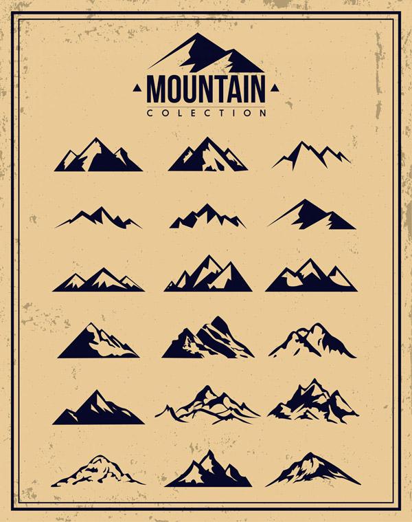 创意山标志矢量